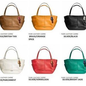 b97035bc5cb2 Coach Bags - Coach F23284 Park Leather Carrie Orange Shld Bag